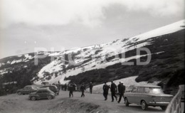 60s FIAT 1500 SKI  PUERTO DE NAVACERRADA MADRID ESPANA SPAIN ESPAGNE AMATEUR 35mm ORIGINAL NEGATIVE Not PHOTO No FOTO - Autres