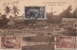 """S44-089 La Guadeloupe Illustrée - La Plage Du """" Bananier """" - Voyagé En 1911 Avec Bel Affranchissement - Guadeloupe"""