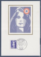 = Marianne De Briat Dite Du Bicentenaire Carte Postale 1er Jour Paris 5.7.94 N°2906 Bleu 2f - FDC