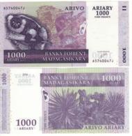 MADAGASCAR  1'000 Ariary  5'000 Francs      P89a  (ND  2004) - Madagascar