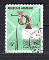 GABON  PA N° 28  OBLITERE  COTE 0.30€   TELECOMMUNICATIONS - Gabun (1960-...)