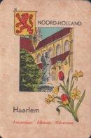 1 Oude Speelkaart Uit Steden Kwartet : Noord-Holland : Haarlem - Speelkaarten