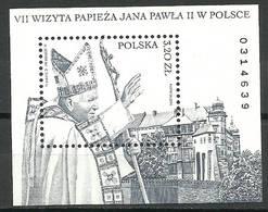 Poland 2002 Mi Bl 151 Fi Bl 180 MNH ( ZE4 PLDbl151dav68B ) - Iglesias Y Catedrales