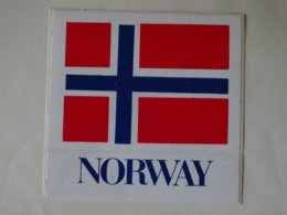 Autocollant Adhésif Drapeau Norvège, Norway Flag Aufkleber - Obj. 'Remember Of'