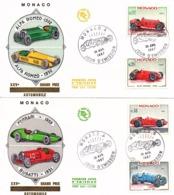 FDC  -  MONACO  -  28 AVR 1967   -   25èmes  Grand  Prix  Automobile  De  Monaco  ( Série Complète ) - FDC
