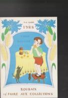 CP ROUBAIX Union Biscuits Foire Collections 1988 Annie Scrive Dite Nathalia - Roubaix