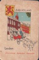 1 Oude Speelkaart Uit Steden Kwartet : Zuid-Holland : Leiden - Speelkaarten