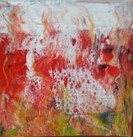Tableau Peinture Acrylique - Coulée De Lave - Other