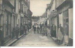 25 - AUBIGNY - RUE DU CHARBON  ( Animées - COIFFEUR ) - Aubigny Sur Nere
