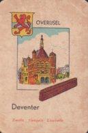 1 Oude Speelkaart Uit Steden Kwartet : Overijsel : Deventer - Speelkaarten