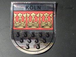 Blason écusson Autocollant Adhésif Coat Of Arms Sticker Aufkleber Wappen Köln Cologne - Obj. 'Remember Of'