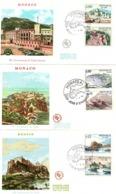FDC  -  MONACO  -  1 . 2 . 66   -   750 èmes  Anniversaire  Du  Palais  Princier  ( Série Complète ) - FDC
