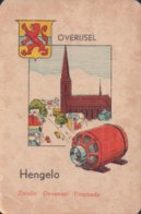 1 Oude Speelkaart Uit Steden Kwartet : Overijsel : Hengelo - Speelkaarten