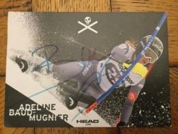 Adeline Baud Mugnier Équipe De France De Ski Avec Autographe - Sports D'hiver