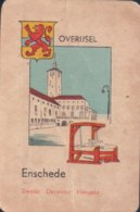 1 Oude Speelkaart Uit Steden Kwartet : Overijsel : Enschede - Speelkaarten