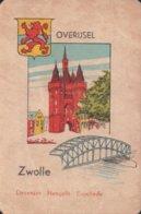 1 Oude Speelkaart Uit Steden Kwartet : Overijsel : Zwolle - Speelkaarten