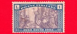 NUOVO Ling. - ITALIA - REGNO - 1924 - Anno Santo (1925) - Apertura Della Porta Santa - 1 L. + 50 C. - Nuovi