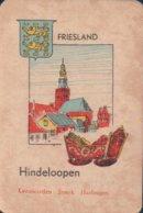1 Oude Speelkaart Uit Steden Kwartet : Friesland : Hindeloopen - Speelkaarten