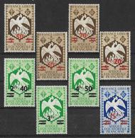 """A.E.F. 1945 -  Afrique Equatoriale Française.  """"Série De Londres"""" (Complète) - Y&T - N° 198 à 205 **  Neufs Luxe (T.B.) - Neufs"""