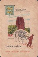 1 Oude Speelkaart Uit Steden Kwartet : Friesland : Leeuwarden - Speelkaarten