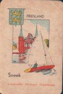 1 Oude Speelkaart Uit Steden Kwartet : Friesland : Sneek - Speelkaarten