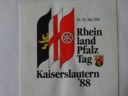 Autocollant Adhésif Rheinland Pfalz Avec Drapeau Aufkleber Mit Wappen - Obj. 'Remember Of'