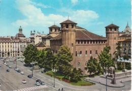 TORINO - PIAZZA CASTELLO E PALAZZO MADAMA - ANIMATA - AUTO D'EPOCA CAR VOITURES - VIAGGIATA 1962 - Places