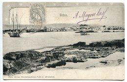 Pionnière Voyagé 1907 * LIBAN SIDON ( Saïda * Vue Générale De La Ville ) - Liban