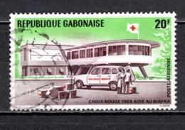 GABON  PA N° 89  OBLITERE  COTE 0.30€    CROIX ROUGE - Gabun (1960-...)