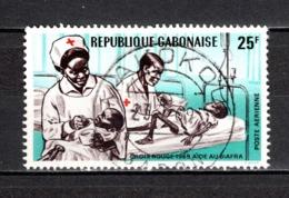 GABON  PA N° 90  OBLITERE  COTE 0.50€    CROIX ROUGE - Gabun (1960-...)