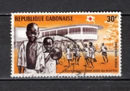 GABON  PA N° 91  OBLITERE  COTE 0.50€    CROIX ROUGE - Gabun (1960-...)