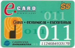 Cambodia - Cambodia Shinawatra - E.Card - Remote. Mem 5$, Used - Kambodscha