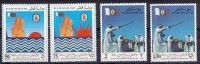 1990 QATAR 19th Anniversary Of Independence Complete Set 4 Values MNH - Qatar