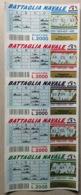 GRATTA E VINCI - Battaglia Navale   - STRISCIA DI 5 BIGLIETTI - Biglietti Della Lotteria