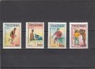 Tanzania Nº 1188 Al 1191 - Tanzania (1964-...)