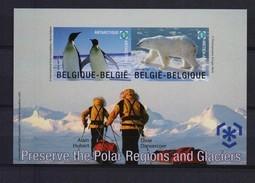 Blok 166 PRESERVE THE POLAR REGIONS AND GLACIERS  ONGETAND POSTFRIS** 2009 - Belgium