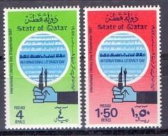 1987 QATAR World Literacy Day Complete Set 2 Values (MNH) - Qatar
