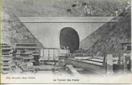 Le Tunnel Des FADES (en Travaux, Voie Provisoire, Wagonnet...) - Francia