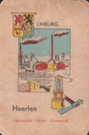 1 Oude Speelkaart Uit Steden Kwartet : Limburg : Heerlen ( Mijnbouw Mijnen Charbonnage Mijnlamp ) - Andere