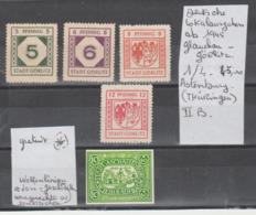 TIMBRES D ALLEMAGNE ( DEUTSCHE LOKALAUSGABEN AB 1945 GLAUCHAU GORLITZ) Nr 1/4 (*)   COTE 45  € - Sonstige