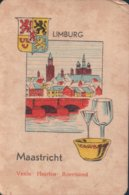 1 Oude Speelkaart Uit Steden Kwartet : Limburg : Maastricht - Speelkaarten