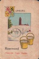 1 Oude Speelkaart Uit Steden Kwartet : Limburg : Roermond - Speelkaarten