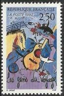 France 1992 - Variété Crochet à La Guitare - Y&T 2784b Neuf ** - Variétés Et Curiosités