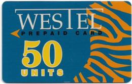 Ghana - Westel - Westel Abstract Design 1, Prepaid Magnetic 50Units, Used - Ghana