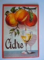 Etiket Etiquette Cidre Fruits Pommes Appels - Etiketten