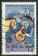 France 1992 - Variété Crochet à La Guitare - Y&T 2784b Oblitéré - Variétés: 1990-99 Oblitérés