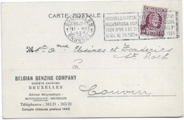 Carte Postale  Bruxelles   Vers Couvin 1924   Perforé BBC - Stamped Stationery