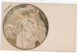 CARD A.MUCHA MESE DI MARZO IN TONDO -FP-V-2 -  0882-29223 - Mucha, Alphonse