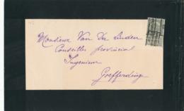 350/30 -- PREO Roulette BRUXELLES Chancellerie 1902 - DOUBLE ROULETTE RARE - Sur Faire-Part De Deuil Vers GRAMMONT - Vorfrankiert