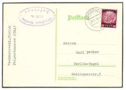 Postkarte Deutsche Post Osten Zakopane 1940 Nach Berlin - Deutschland